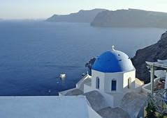 OIA - Isola di Santorini - (Grecia) (cannuccia) Tags: paesaggi landscape panorami santorini oia cupole blu mare chiese grecia isole