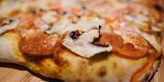 Friday night special | 267/366 (emrold) Tags: 23sep16 366the2016edition 3662016 day267366 kodakektachrome64 macro vsco vscofilm07 bokeh dinner mushroom pizza fujifilmxt1 2016emrold|ericdelorme xf16mmf14rwr