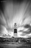 Portland Bill on a windy day (jerry_lake) Tags: 30seconds 6thoct2016 bw d750 dorset iso50 leebigstopper portlandbilllighthouse westbaytrip daytime f90 longexposure