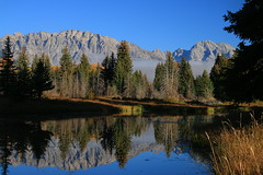 A gloves and scarf morning (alideniese) Tags: grandtetonnationalpark wyoming usa snakeriver schwabacherslanding waterscape landscape river water cold trees nature mist sky mountains reflection morning