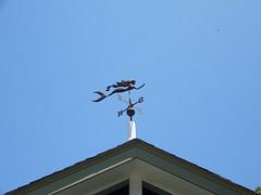 Lewes Delaware (jajapiggy) Tags: mermaid weather vane metal blue sky