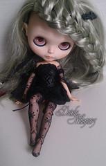 Lola (Aurora Unicorn) Tags: vampire bat lola service blythe custom tbl braid vampira minguez customização driely