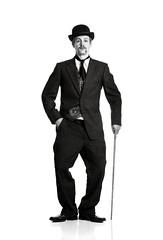 Charlie Chopperlin (Scruba Images) Tags: lighting charity november portrait bw self hair scott movember mo moustache salvador setup mustache dali philip bourke strobe chaplin cause charliechaplin halsman salvado strobist wwwscottbourkecomau chopperlin