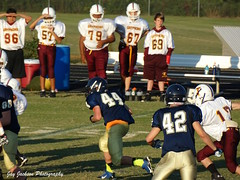 Running (AppStateJay) Tags: school sport football nc action thomas sony running classical jefferson middle athlete academy bishop defense middleschool 2014 mcguiness bishopmcginnis tjca dschx300 sonydschx300 thomasjeffersonclassicalacademy