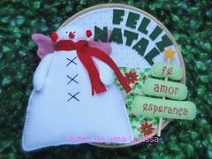 Boneco de Neve (Artes de uma Larissa) Tags: natal feitomo feliznatal feltro decorao bonecodeneve tildas enfeitedeporta decoraonatal