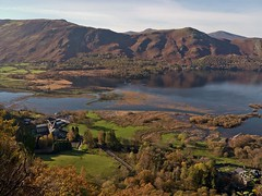 Derwentwater from Surprise View that is located along the road past Ashness Bridge (penlea1954) Tags: park county bridge england lake water river town view district derwent scenic national cumbria surprise stunning vista borough derwentwater keswick borrowdale ashness allerdale