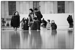 Paris, France - Paris' Street and Travel Photography (Mio Cade) Tags: city travel winter white black paris france tower monochrome museum landscape cityscape louvre streetphotography notredame effel