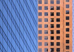 BNS (josullivan.59) Tags: travel blue windows red wallpaper urban orange toronto ontario canada abstract detail reflection fall texture geometric architecture downtown day skyscrapers clear minimalism artisitic nicelight kingbay 3exp canon6d tamron150600