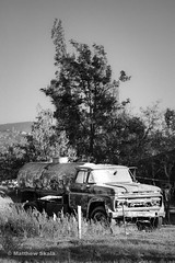 Dead Truck, Redondo, Baja California, Mexico (mskala23) Tags: old travel white black detail texture dusty monochrome field vertical contrast digital rural truck landscape dead mexico countryside blackwhite aftermath rust ruins flickr day exterior village graphic outdoor farm grunge fineart poor gray grain wide apocalypse ruin dramatic naturallight sunny social gritty explore dirt bajacalifornia geography rough agriculture society redondo aging contemplative gmc corrosion rancho foreground facebook neutral instagram vscocam shantysilver