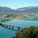 Macedonia, curved bridge over the lake of Polyfitos, Aliakmonas river, Kozani #Μacedonia
