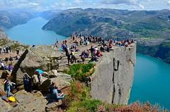 Preikestolen - Pulpit Rock (nebulous 1) Tags: people nature norway landscape climb nikon view scene hike preikestolen lysefjord pulpitrock d7000 nebulous1