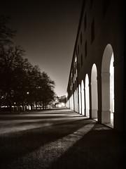 Night meets Light (memories-in-motion) Tags: travel white black architecture night germany munich münchen deutschland licht nacht centre olympus tourist zentrum weiss schatten schwarz reise hofgarten mft hochformat 46sec em5panasoniclumixgvario714f40iso20014mmf10