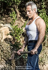 Lumberjack (Marco Govel) Tags: wood man tree male senior forest work outdoors athletic healthy body cut muscle timber muscular handsome lifestyle sharp professional mature attractive axe trunk strong worker strength biceps tool lumberjack lumber caucasian woodcutter