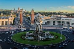Plaa Espanya (Gonzalo Ribas) Tags: barcelona plaza espaa shopping spain nikon espanha catalunya arenas plaa espanya catalunha