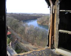 Castle tower window. (Magryciak) Tags: trip travel building castle history architecture canon eos europe poland 2014 czocha