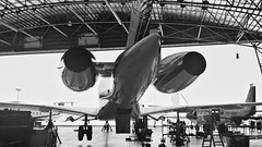 Bombardier. (Dale Chaney) Tags: blackandwhite white black private pacific aviation transport hangar jet samsung galaxy bnw hawker s4 bombardier vsco