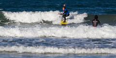 Surf (dfvergara) Tags: espaa blanco azul mar agua surf playa galicia deporte olas tabla patos espuma surfista nigrn playadepatos