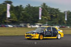 Honda Civic EG8 Turbo (Fezzan Niyas) Tags: yellow drag photography shot racing sri lanka turbo civic panning rolling niyas fezzan eg8