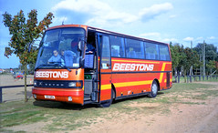 Beestons 221GRA Red Lodge (Wild Tracks) August 2002 (The original SimonB) Tags: 2002 film buses suffolk transport august scanned setra redlodge wildtracks beestons