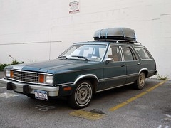 Ford Fairmont Station Wagon (tomtomklub) Tags: city roof urban orange green ford station metal vintage dark wagon lights mirror early louisiana shiny angle time steel parking neworleans machine lot luggage clean bumper chrome rack late 1970s trim 1980s hubcap fairmont polished waxed boxy vintageamericancar