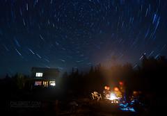 (Cale Best Photography) Tags: longexposure nightphotography light summer camp stars fire nationalpark cottage brucepeninsula lakehuron tobermory startrails