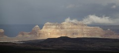 Arizona (Roberto Cumsille) Tags: light red arizona sunshine clouds us rocks az cast robertocumsille