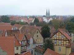 Altstadtblick von der Schlossterrasse (Süßwassermatrose) Tags: panorama germany deutschland altstadt weltkulturerbe schlossberg 2014 sachsenanhalt quedlingburg königspfalz