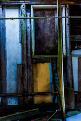 Ran out of yellow paint (Sten Dueland) Tags: abandoned neglected ruin disused decrepit tumbledown deserted deteriorated decaying ramshackle dereliction dilapidated rubble crumbling rundown fallingapart disrepair deteriorating rickety untended ruinous disintegrating creaky creaking fallingtopieces unmaintained rackandruin