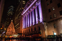 Wall Street Christmas Tree New York City