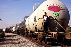 """Love consumes you"" (Therese Trinko) Tags: streetart train graffiti texas traintracks irving ud universityofdallas"