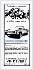 1973 Feb  INTRODUCING the TRIUMPH Spitfire 1500 - Toledo Blade - Feb 26, 1973 (carlylehold) Tags: city sports car club little triumph kansas british lbc haefner carlylehold robertchaefner