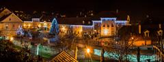 Samobor - Trg kralja Tomislava - panorama 1 (Milan Z81) Tags: christmas bridge night square decoration croatia most trg hrvatska no boi samobor gradna