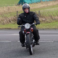 John on his 1935 Panther (Ayr Classic Motorcycle Club) Tags: old classic club vintage scotland scottish cycle moto motorcycle motor ayr veteran timer velo motorrad