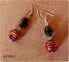 Orecchini con onice e vetro di Murano (grimibijoux) Tags: murano vetro onice orecchini pendenti