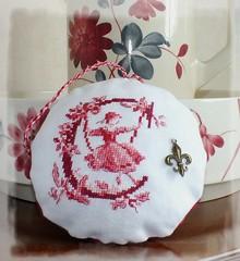 C Toile de Jouy (Polly's Lady) Tags: red rouge crossstitch abc pointdecroix lettres pontocruz toiledejouy puntocroce kreuzstitch