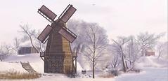 Frisland Windmill (kalia harva) Tags: winter snow windmill secondlife frisland