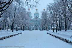 "Saint Nicholas church - Nikolo-Bogoyavlenskiy Morskoy sobor - Никольский сад , Saint Petersburg <a style=""margin-left:10px; font-size:0.8em;"" href=""http://www.flickr.com/photos/24828582@N00/16084829180/"" target=""_blank"">@flickr</a>"