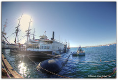 Port of San Diego (Olivia Heredia) Tags: california winter usa naturaleza nature marina us downtown unitedstates sandiego ships socal invierno hdr highdynamicrange ussmidway tonemapped tonemapping portofsandiego 1exp oliviaheredia oliviaherediaotero nytimessquarekiss