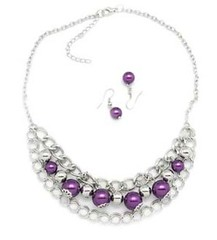 Glimpse of Malibu Purple Necklace P2420-5