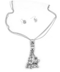 5th Avenue Silver Necklace P2220A-1
