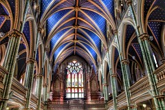 Ottawa Ontario ~ Canada ~ Notre-Dame Cathedral Basilica ~ National Historic Site of Canada (Onasill ~ Bill Badzo) Tags: travel ontario canada pope heritage church architecture canon lens rebel site catholic cathedral leo roman interior basilica ottawa gothic pipe sigma style arches ceiling organ notre dame tours xii hdr act attraction sl1 on d1000 18250mm gothicceiling onasill snapseed