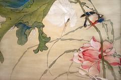 Oiseaux parmi les lotus (Musée Cernuschi, Paris) (dalbera) Tags: paris france automne aigrette nanga martinpêcheur artsasiatiques muséecernuschi dalbera okamotoshuki