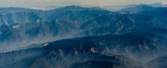 Mountain Range (Skagos26) Tags: terrain mountain mountains rock airplane nikon asia flight korea aerial geography southkorea mountainrange d7100