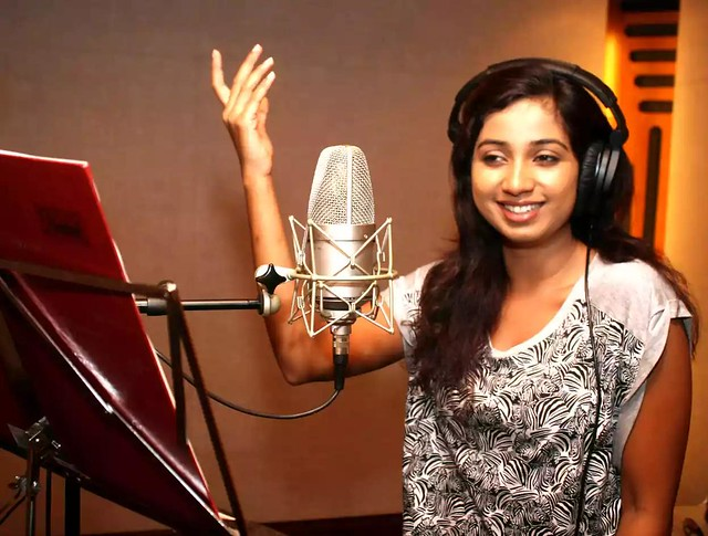 Shreya-Ghoshal-in-recording-room