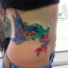 hummingbird_tattoo (TH Tattoo - Salon tatuaje Bucuresti) Tags: hummingbird colortattoo thtattoo tatuajebucuresti tatuaj tatuaje salon studio shop bucharest