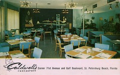 Caldwell's Restaurant, St Petersburg, Florida (SwellMap) Tags: architecture vintage advertising restaurant design pc cafe 60s fifties postcard suburbia style diner kitsch retro truckstop nostalgia chrome americana 50s roadside cafeteria googie populuxe sixties babyboomer consumer coldwar snackbar eatery midcentury spaceage driveinrestaurant atomicage