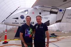 With Solar Impulse pilot Andr Borschberg at NASA Ames (jurvetson) Tags: 2 solar hangar nasa ames andr pilot prep impulse borschberg