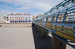bridge-puente-DSC_0321-W (taocgs) Tags: bridge blue espaa lines azul architecture landscape puente spain arquitectura paisaje structure symmetry murcia lineas aguilas estructura simetra