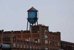 Blue Water Tower (jmaxtours) Tags: blue usa industry buffalo industrial watertower buffalony westernnewyork buffalonewyork desertedfactory desered
