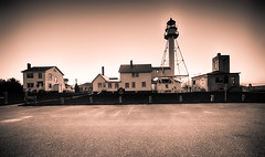 Whitefish Point, Michigan (brucegates) Tags: longexposure lighthouse blackwhite michigan whitefishpoint sigma1020mm canon7d brucegates